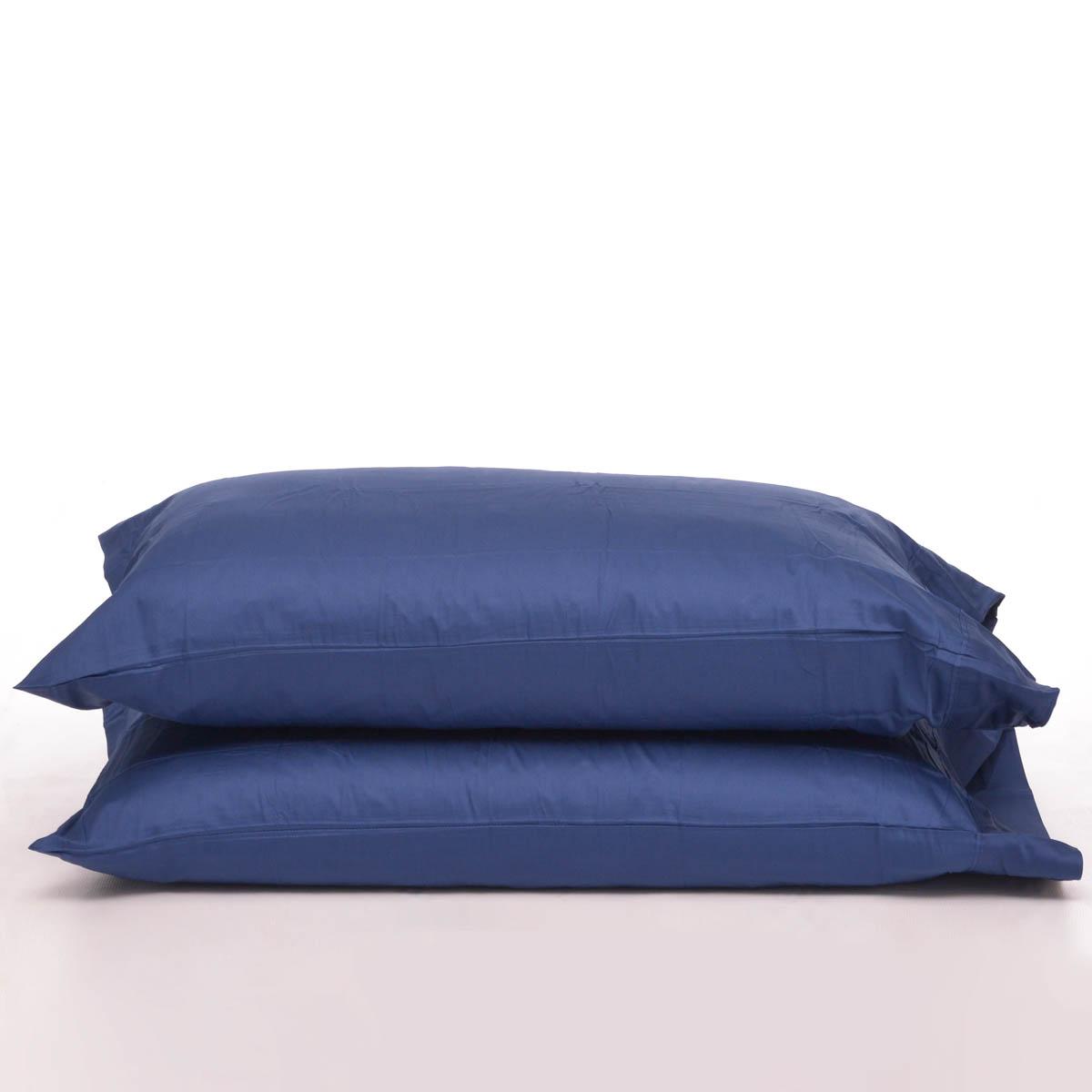 Funda para Almohada K Basic 300 Pipping Tw Blue