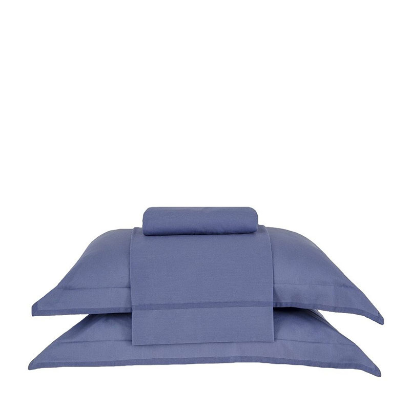 Jgo Sabanas Basic Premium Azul - 240X250