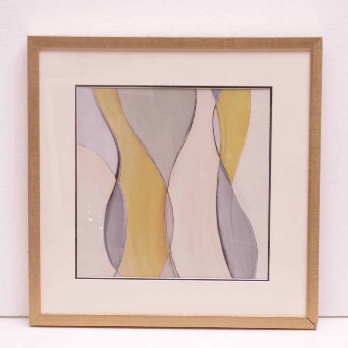 Cuadro Figura gris dorada
