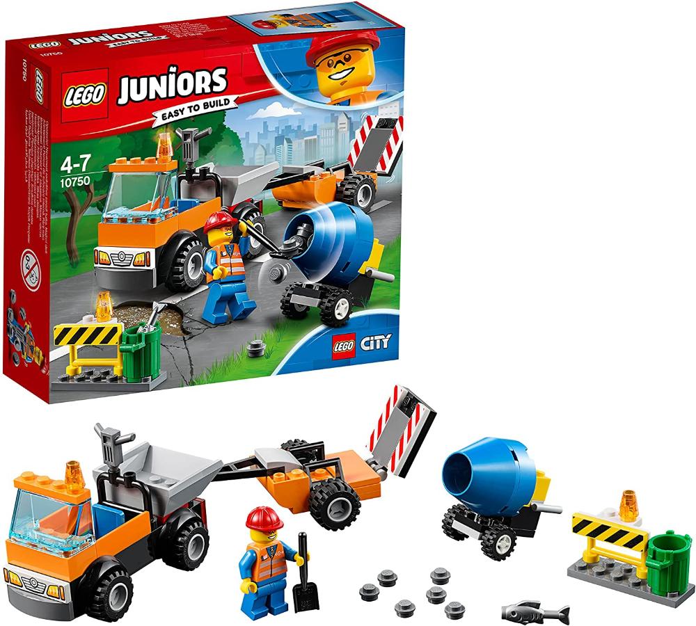 Camión de obras en carretera