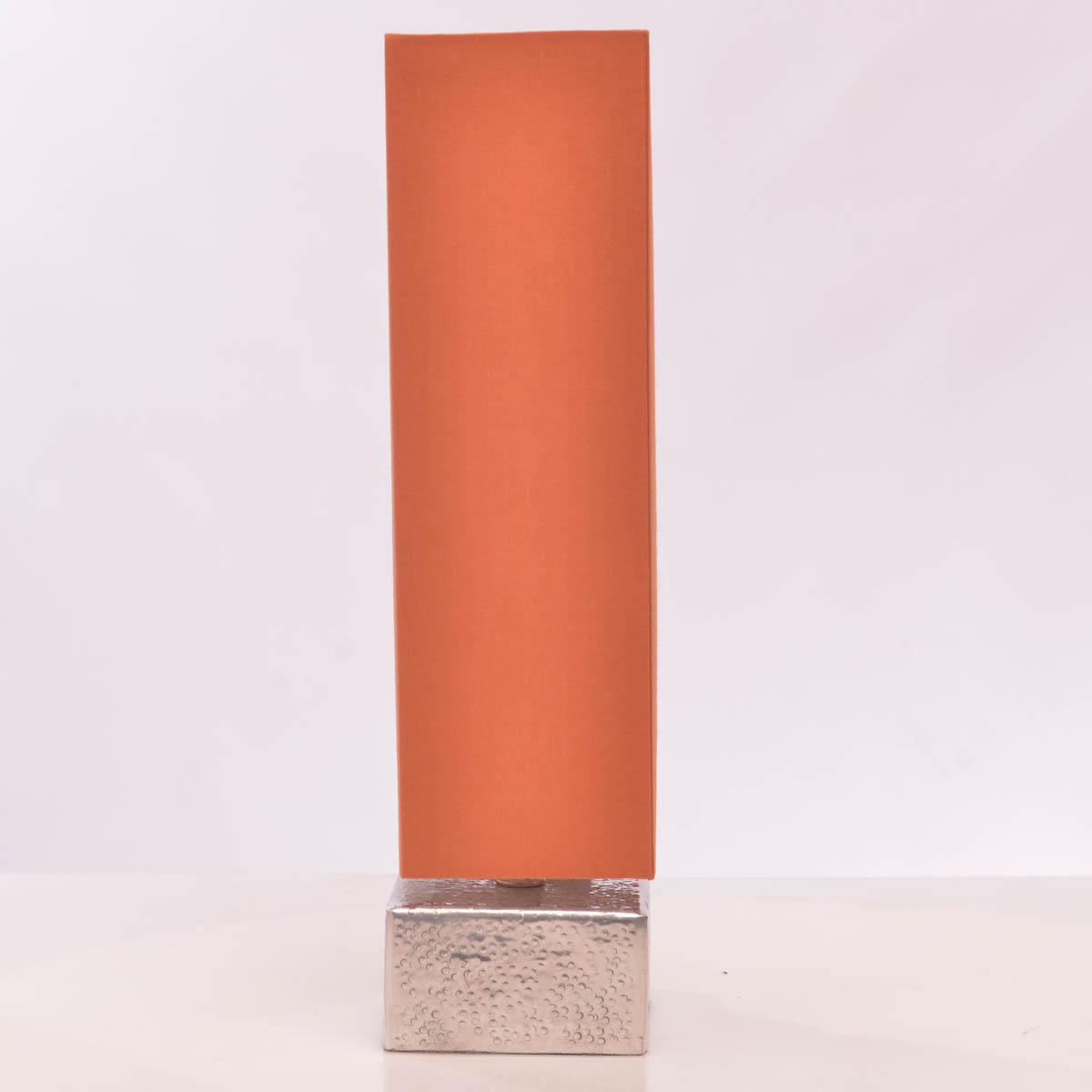 Lámpara de Mesa 37 cm C/Pantalla color naranja