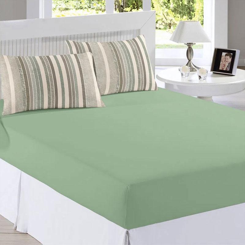 Sabana Ajustable All Desing 158X198X38 Verde