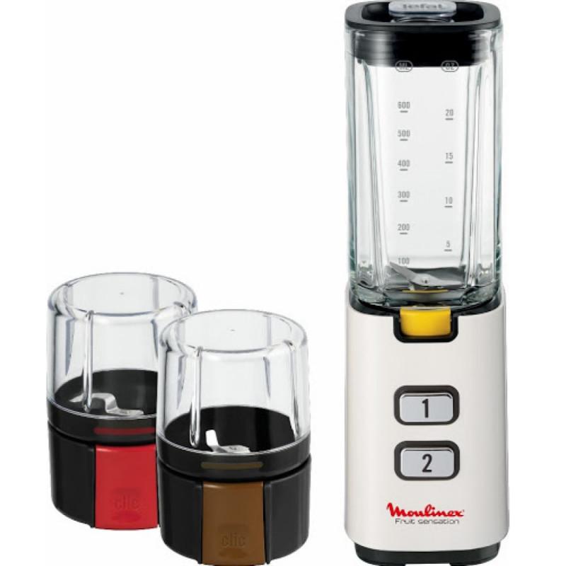 Licuadora smoothie moulinex lm142a26 con miniprocesador