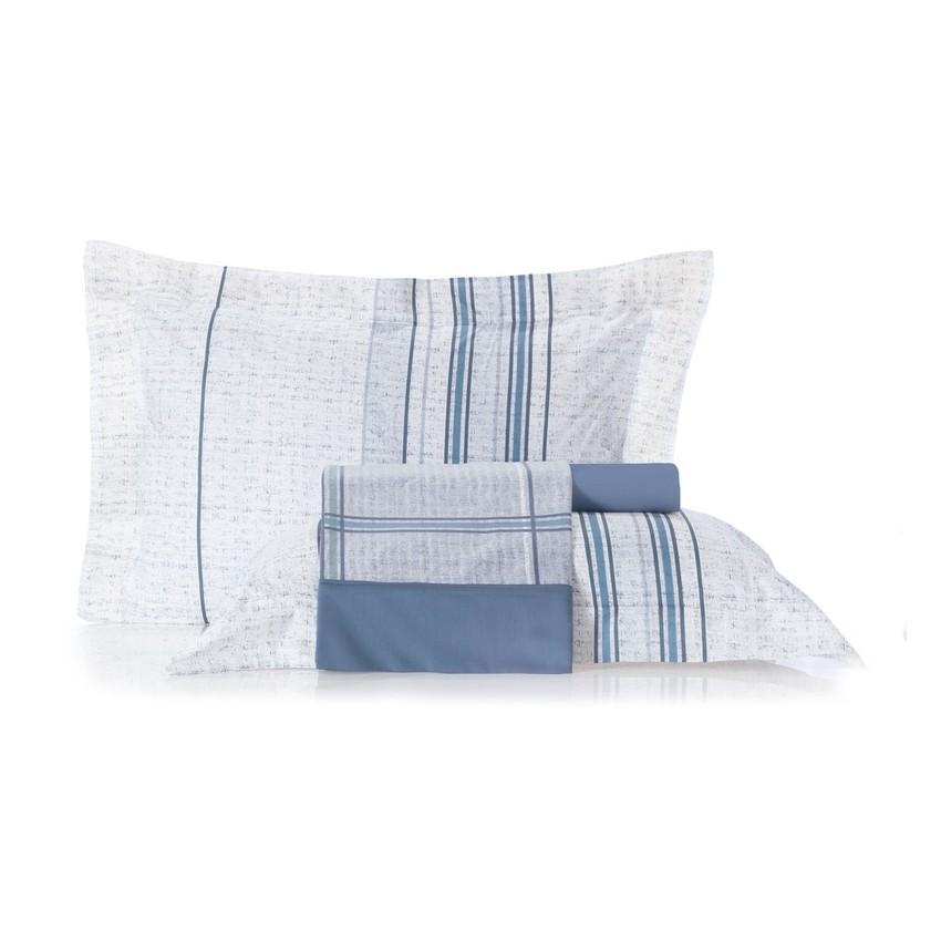 Juego De Sabanas Essence 160X250 Blue Liv