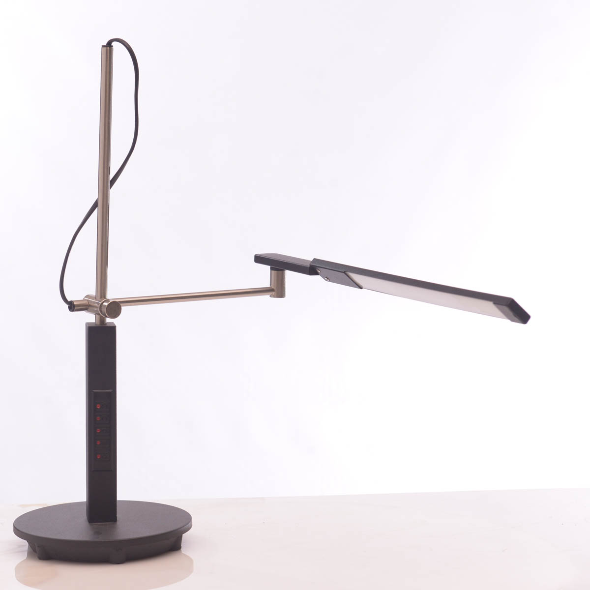 Lámpara de Escritorio Negro Plata