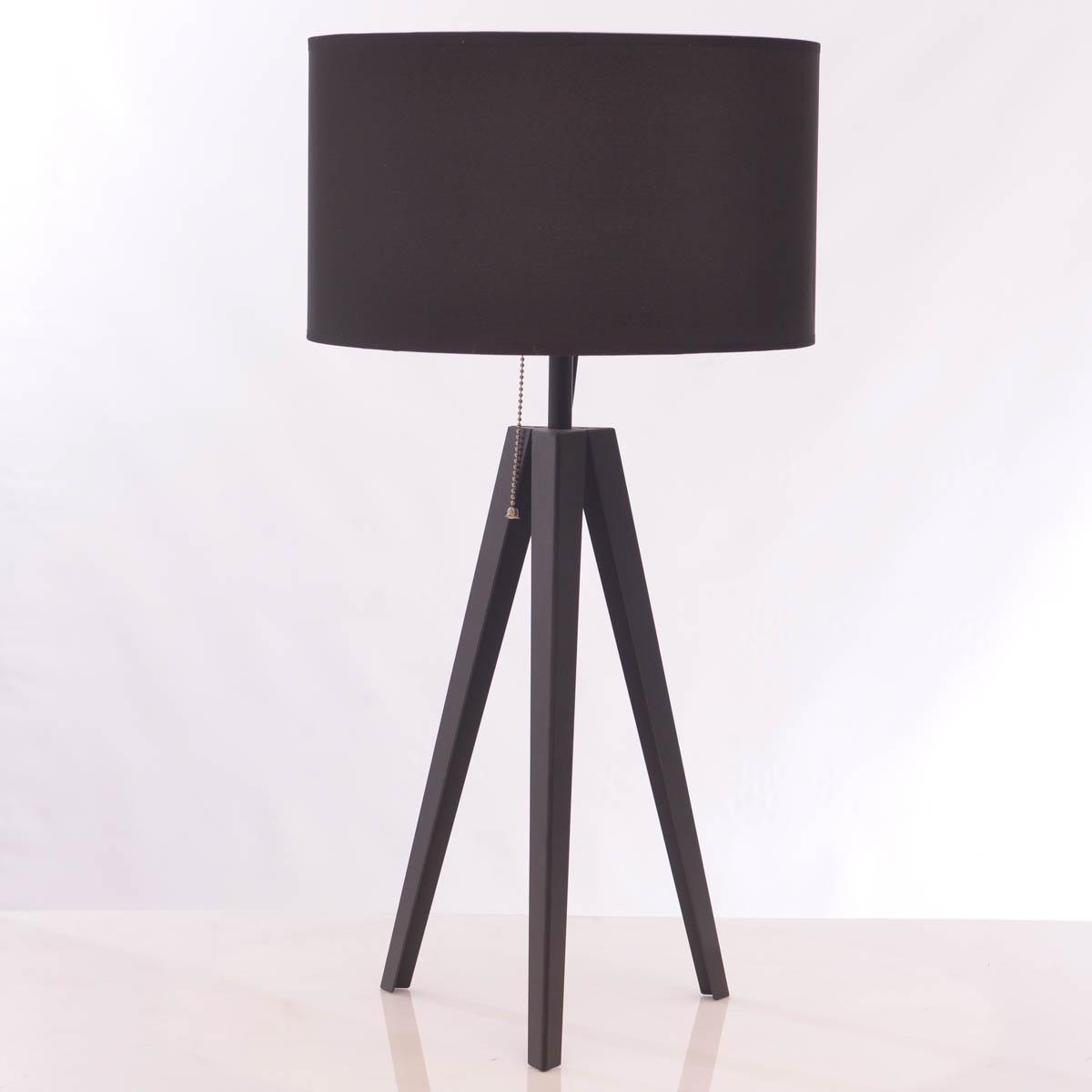 Lámpara de Mesa Tripode Black Shade