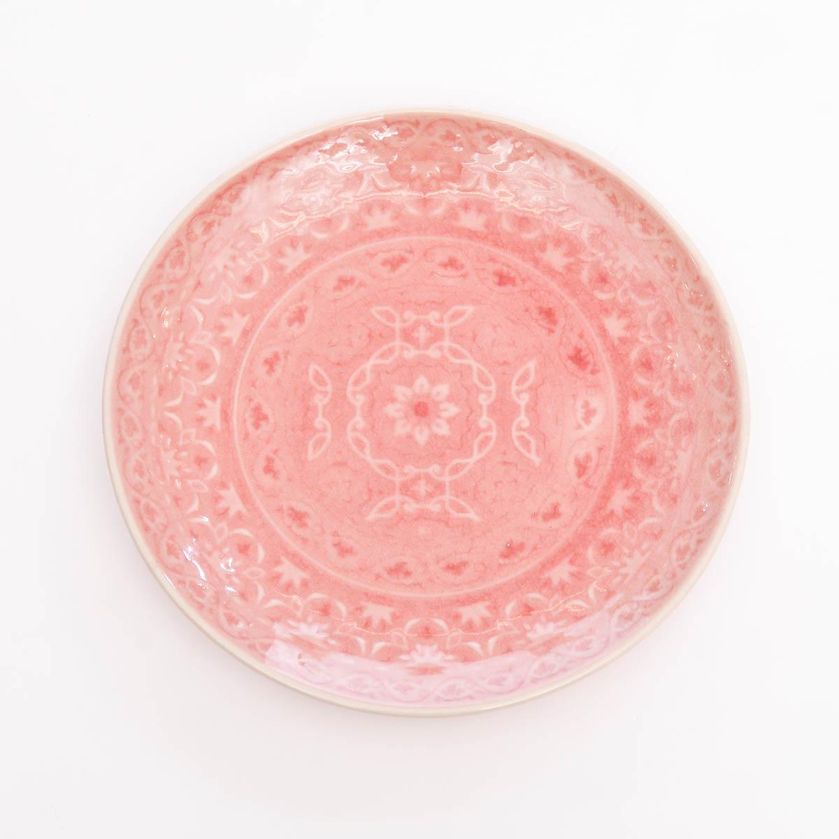 Plato ensalada rosa