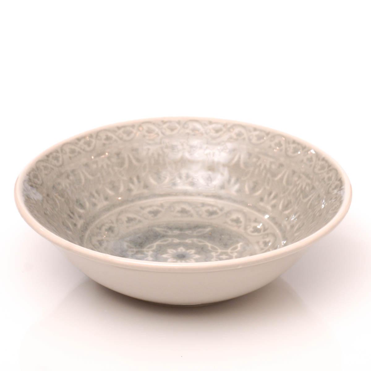 Plato hondo 18 cm gris