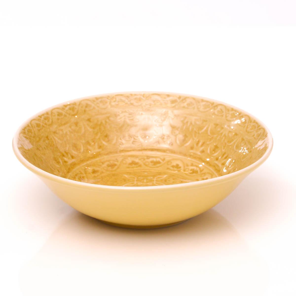 Plato hondo 18 cm amarillo
