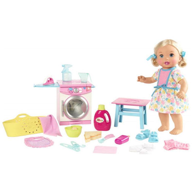 Little mommy bebita come y lava