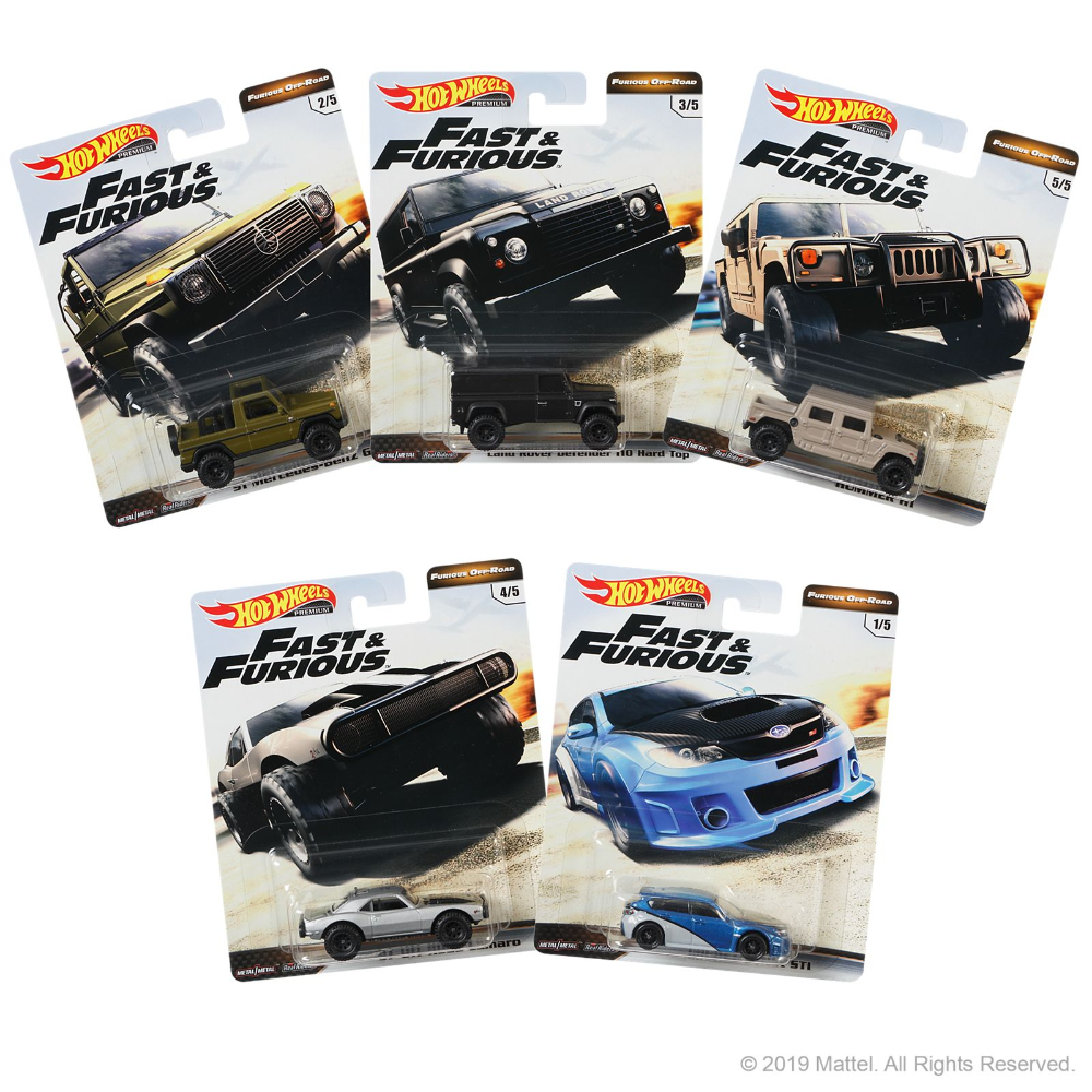 Hot wheels surtido premium fast & furious