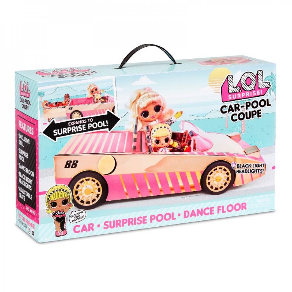 L.O.L Surprise Carpool Coupe c/ muñeca exclusiva -
