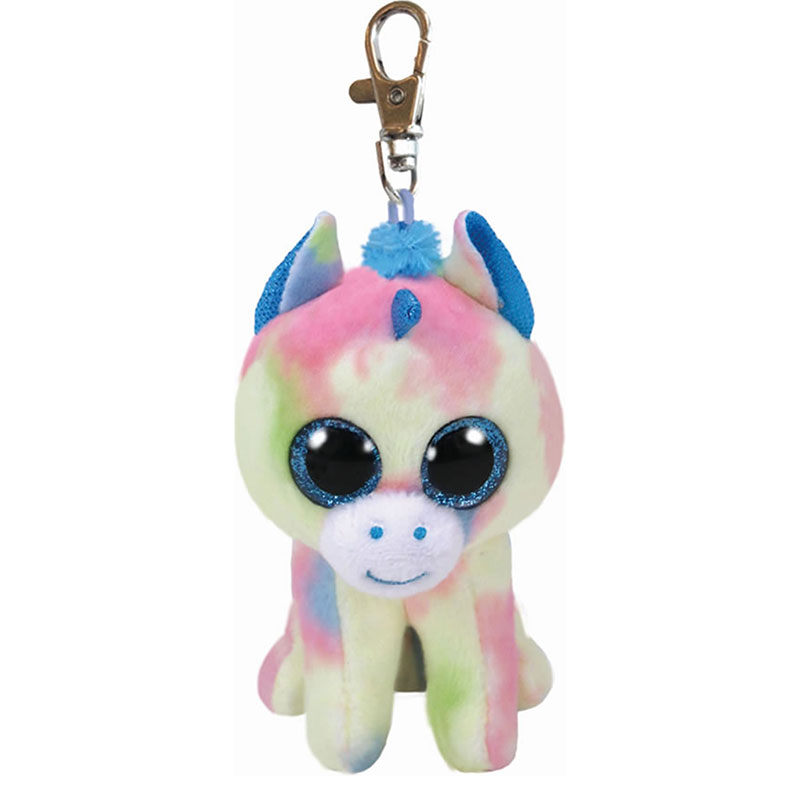 TY Beanie boos blitz unicornio azul clip