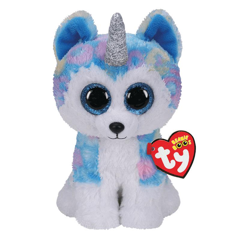TY Beanie boos helena perro husky unicornio regular