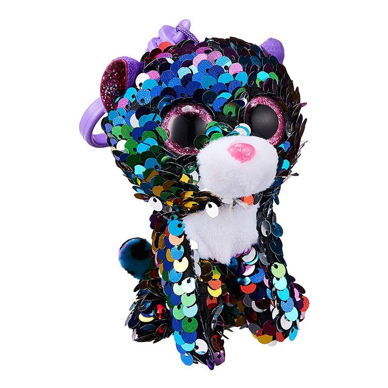 TY Flippables dotty leopardo multicolor clip