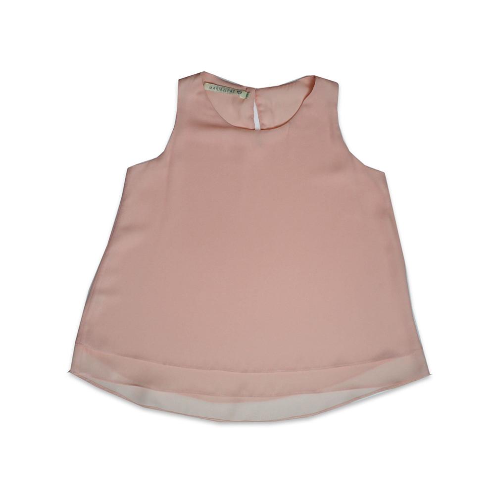 Blusa Doble C/Vuelo Rosa 2T