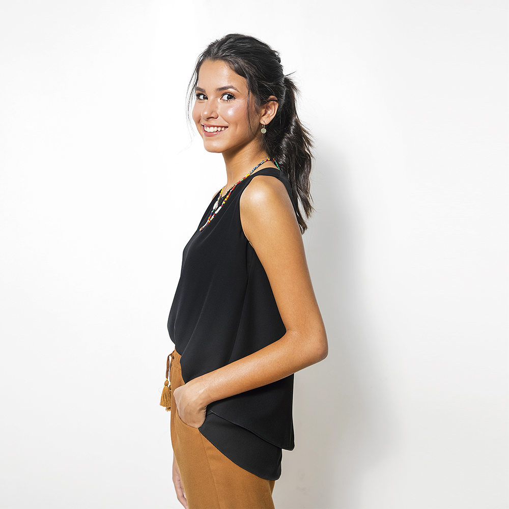 Blusa Doble C/Vuelo Negro 0T