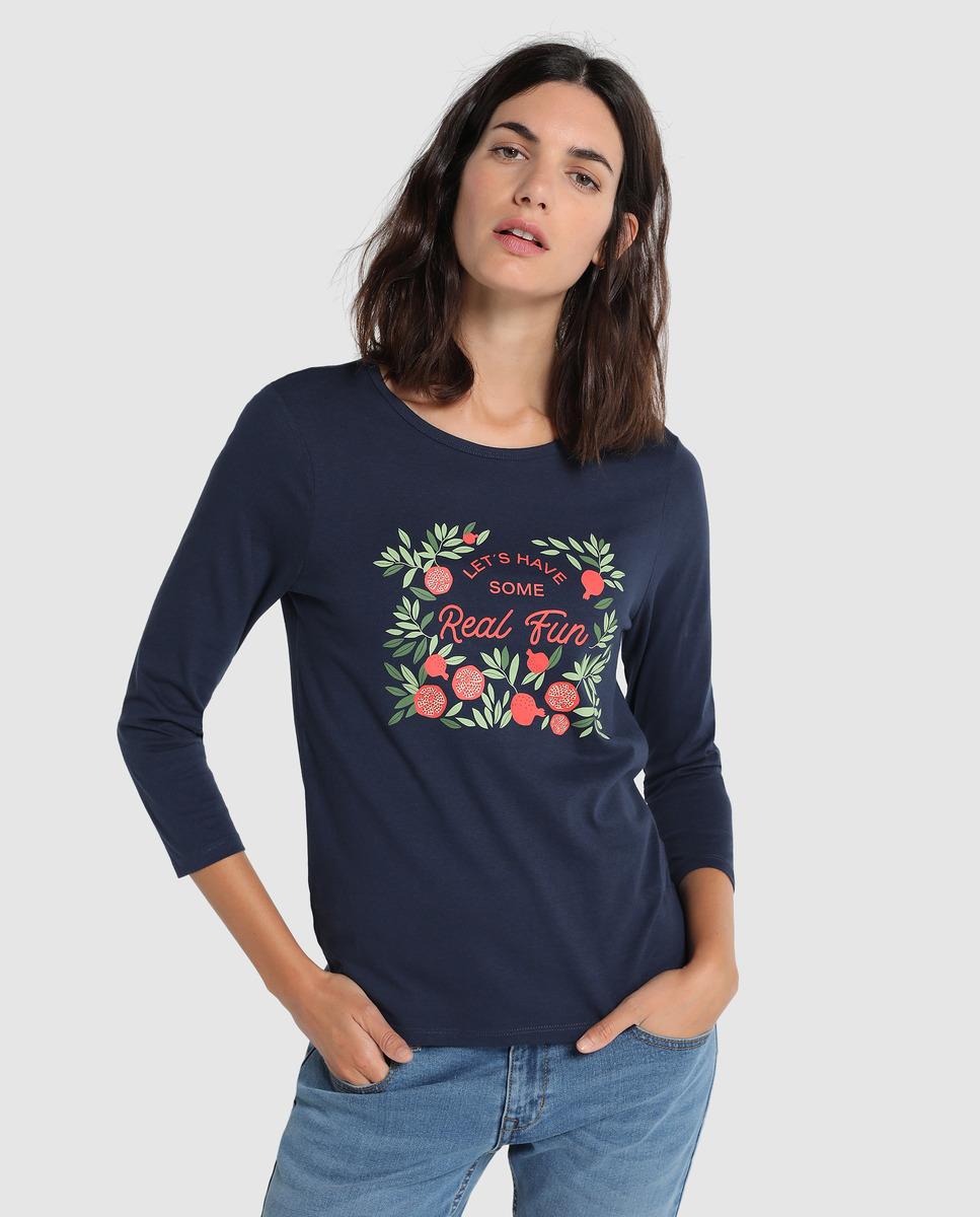 Camiseta con print de mujer Unit