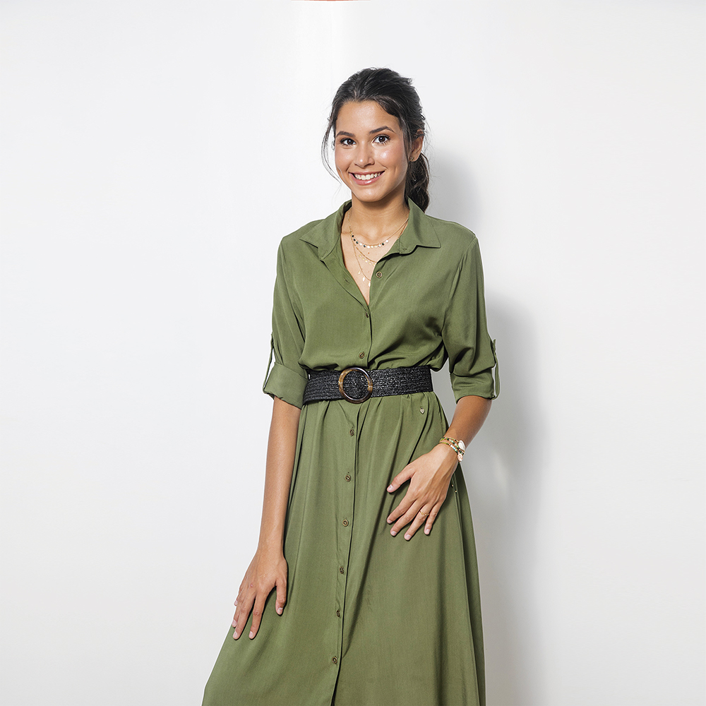 Vestido Camisero Verde Ml 1T