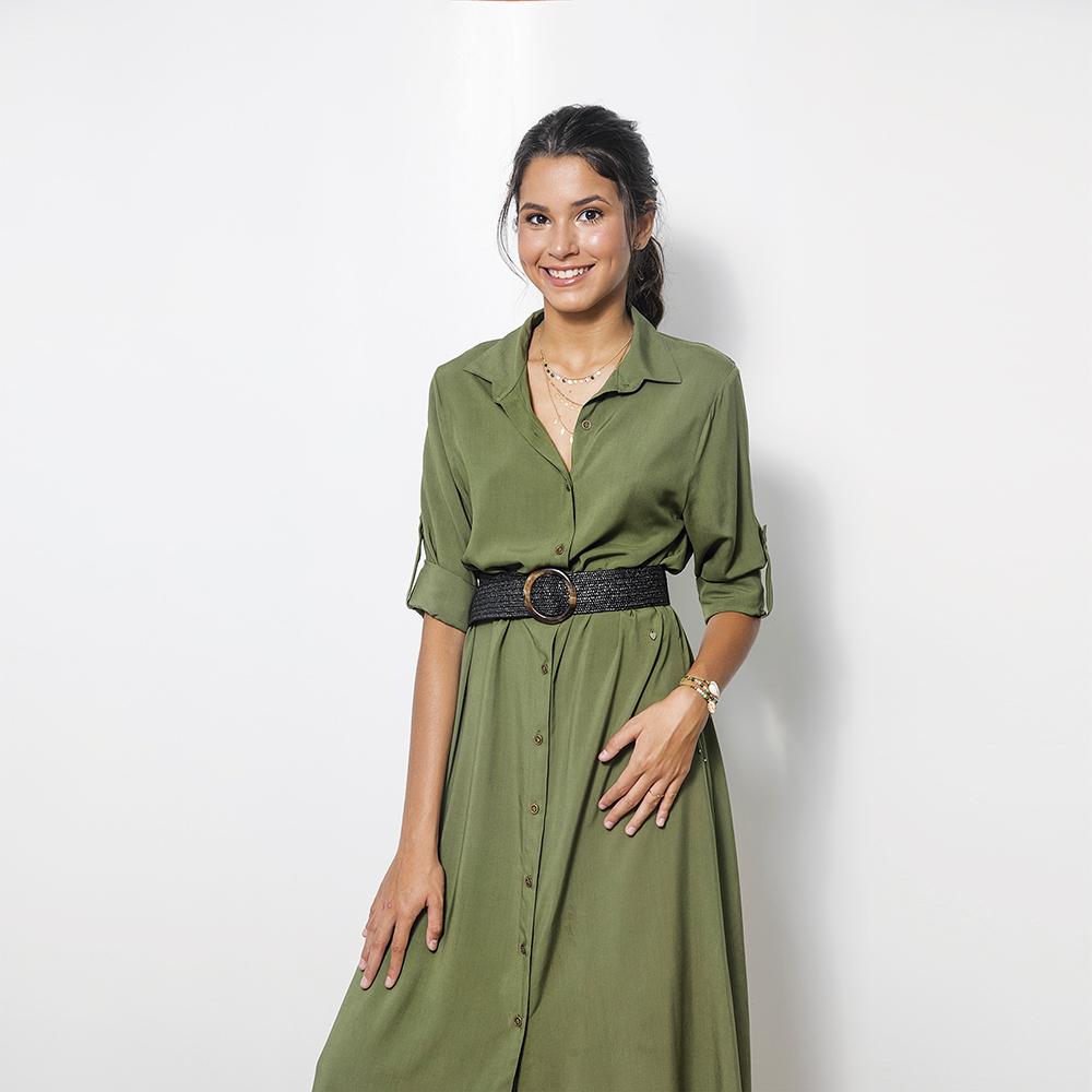 Vestido Camisero Verde Ml 3T