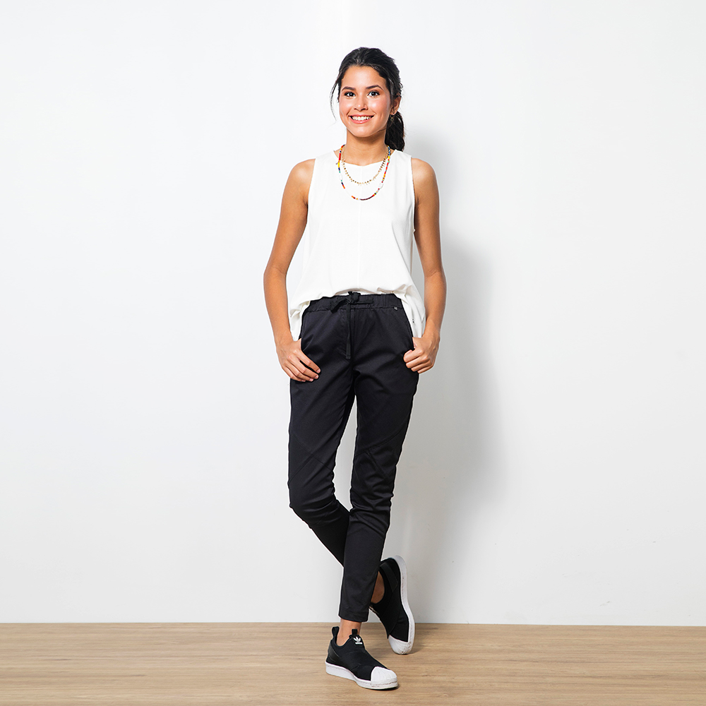 Pantalon C/Cortes Negro 1T