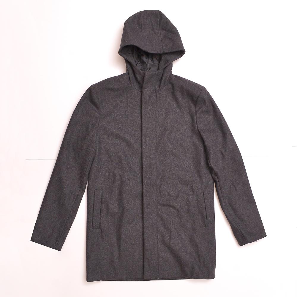 Abrigo masc bfd gris osc