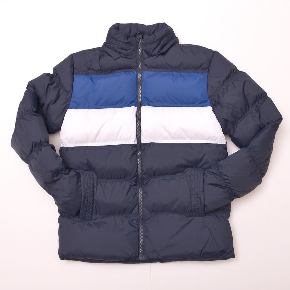 Campera acolchada rayas masc bfd azul