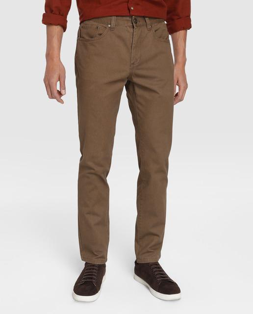Pantalón chino de hombre Unit con pinza y cinturón