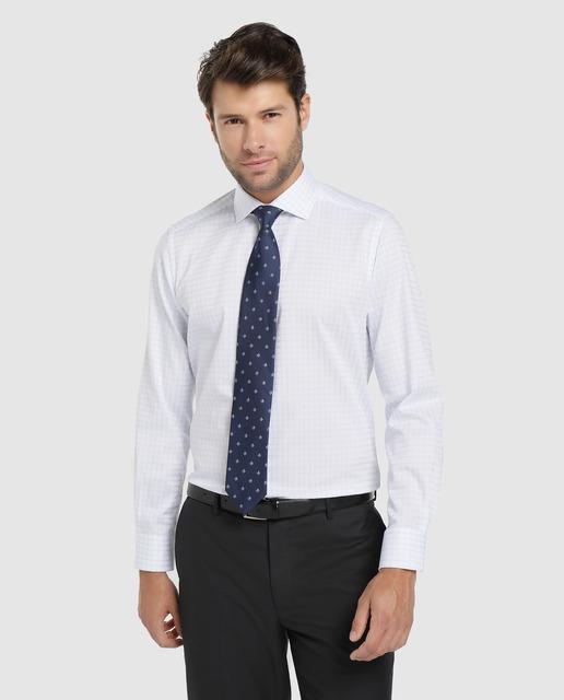 Camisa de algodón de hombre Unit cuadros Slim fit