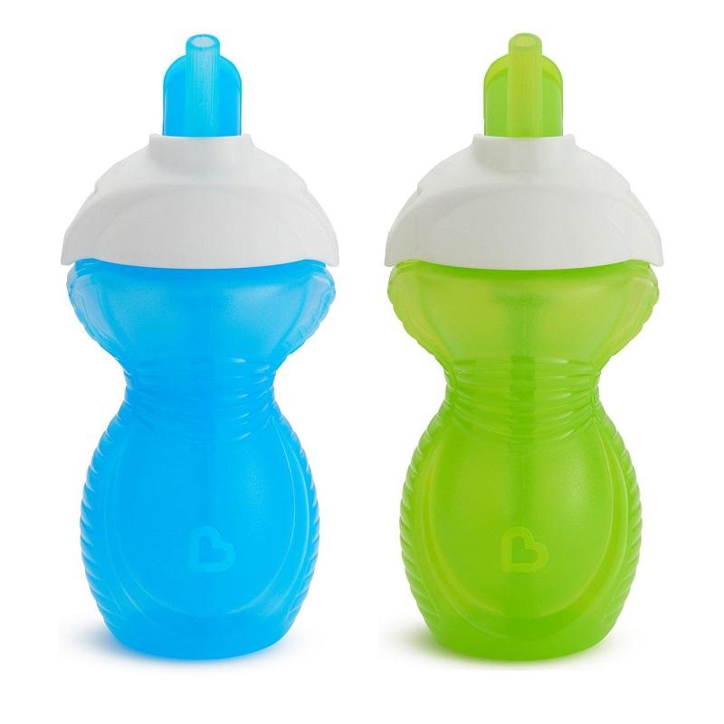 Pack de Vasos de Entrenamiento c/ Pajita Click Lock (x 2 unidades) +12m - Colores Surtidos
