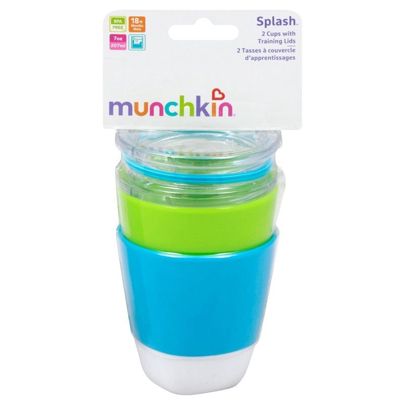 Pack de Vasos de Entrenamiento c/ Tapa Splash (x 2 unidades) +18m  - Colores Surtidos