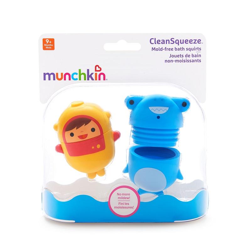 Juguete Lanzachorros Higienizables Clean Squeeze (x 2unidades) - Colores surtidos +9m