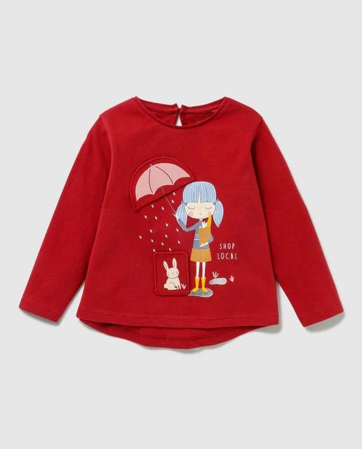 Camiseta con print de bebé Unit