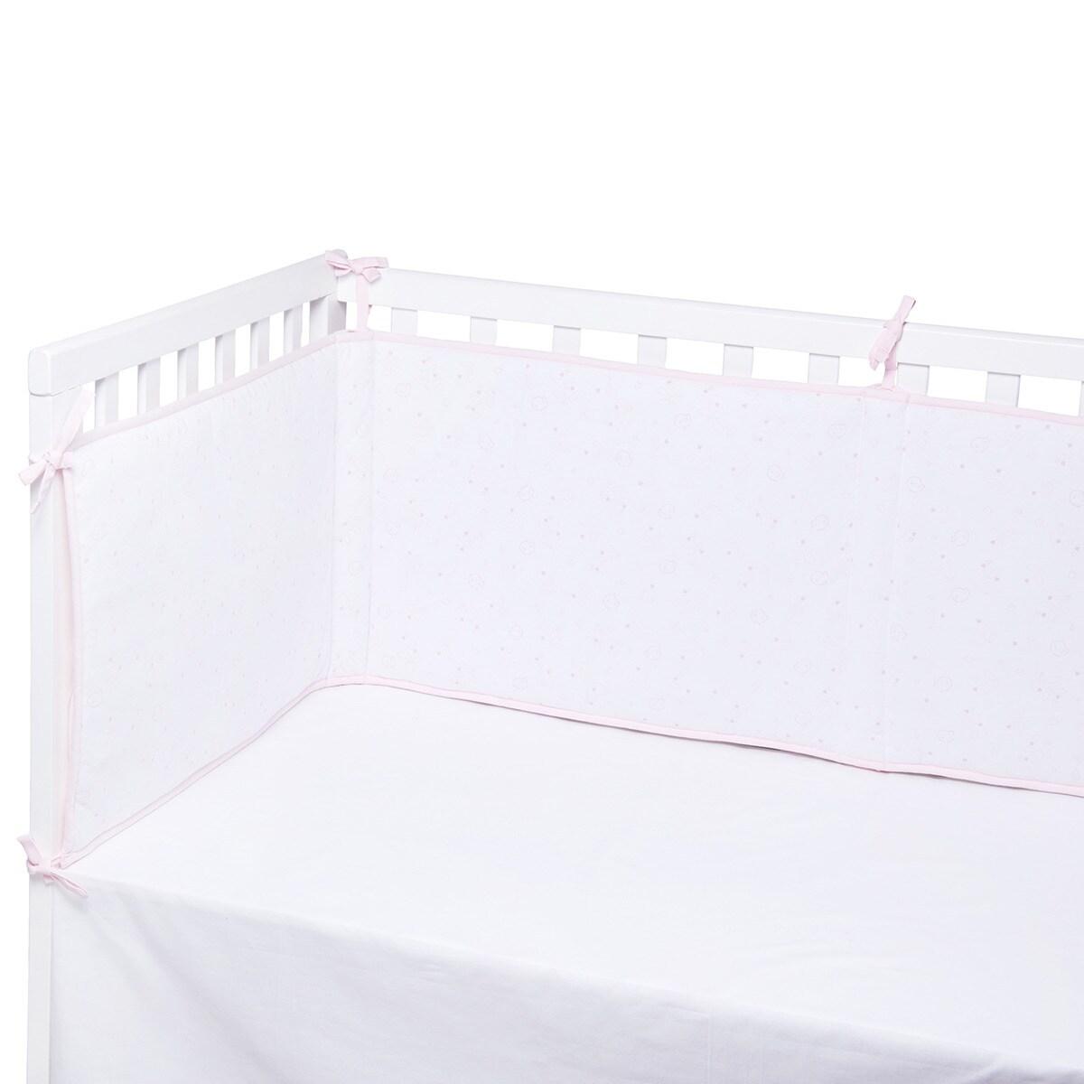 Protector para Cuna (60 x 120 cm.) Cotton Juice Baby Home Estampado Jersey Flores rosa