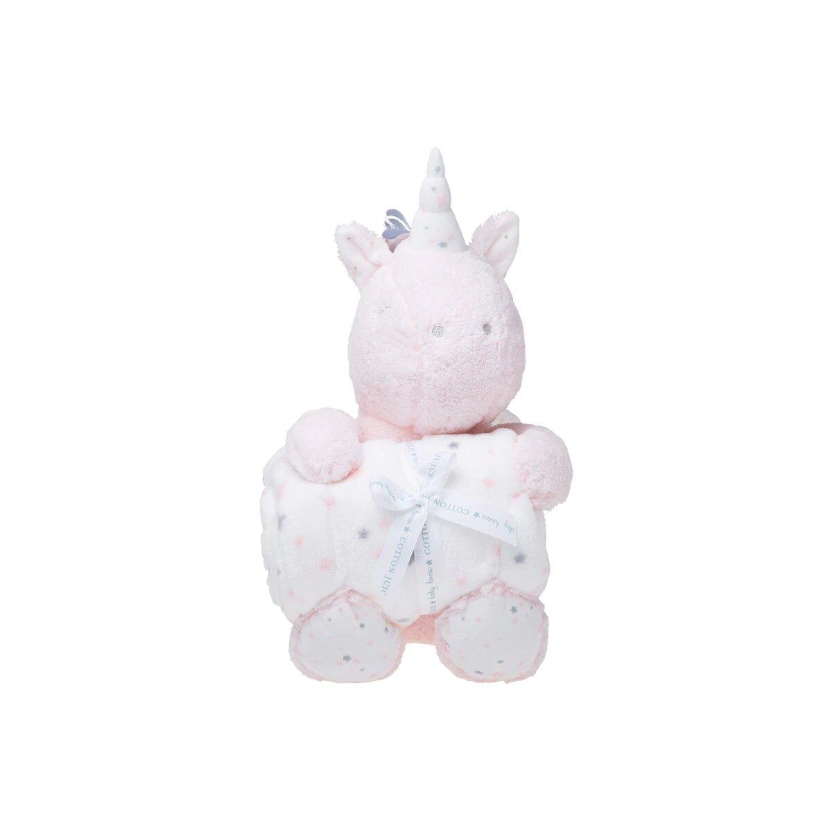 Pack de Regalo Cotton Juice Baby Home Manta + Peluche Unicornio rosa