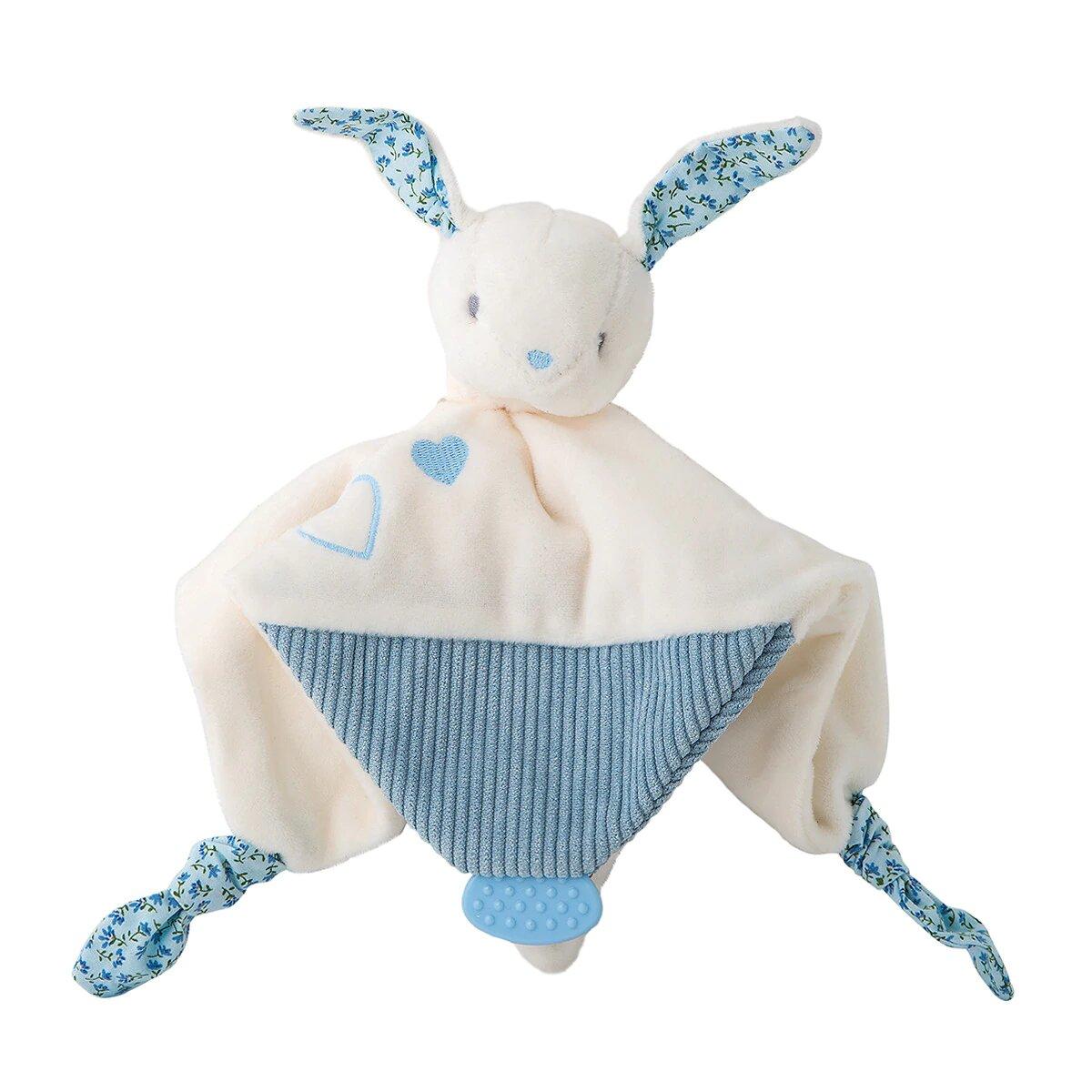 Doudou Cotton Juice Baby Home Colección Conejo azul