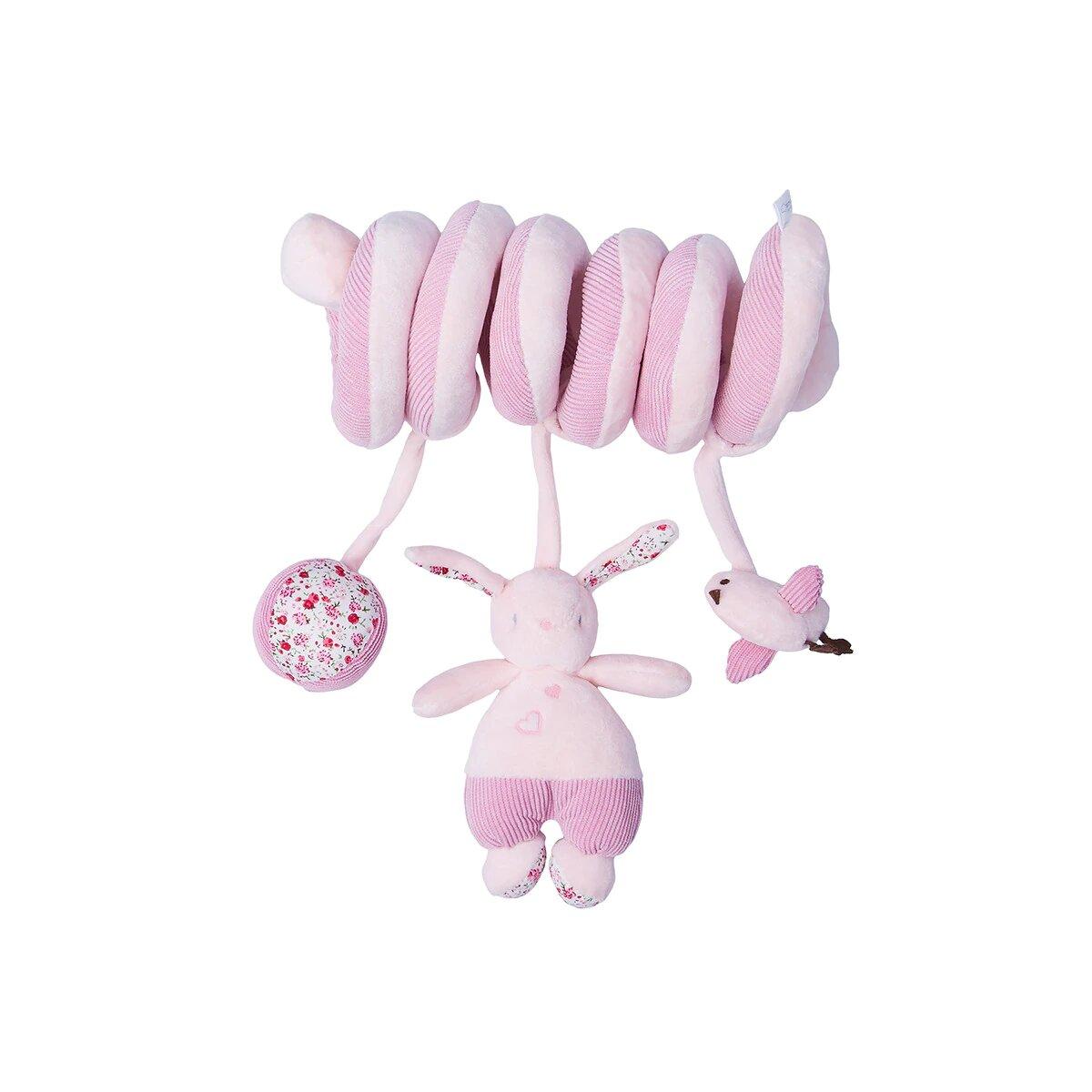 Ristra de muñecos Cotton Juice Baby Home Conejo rosa