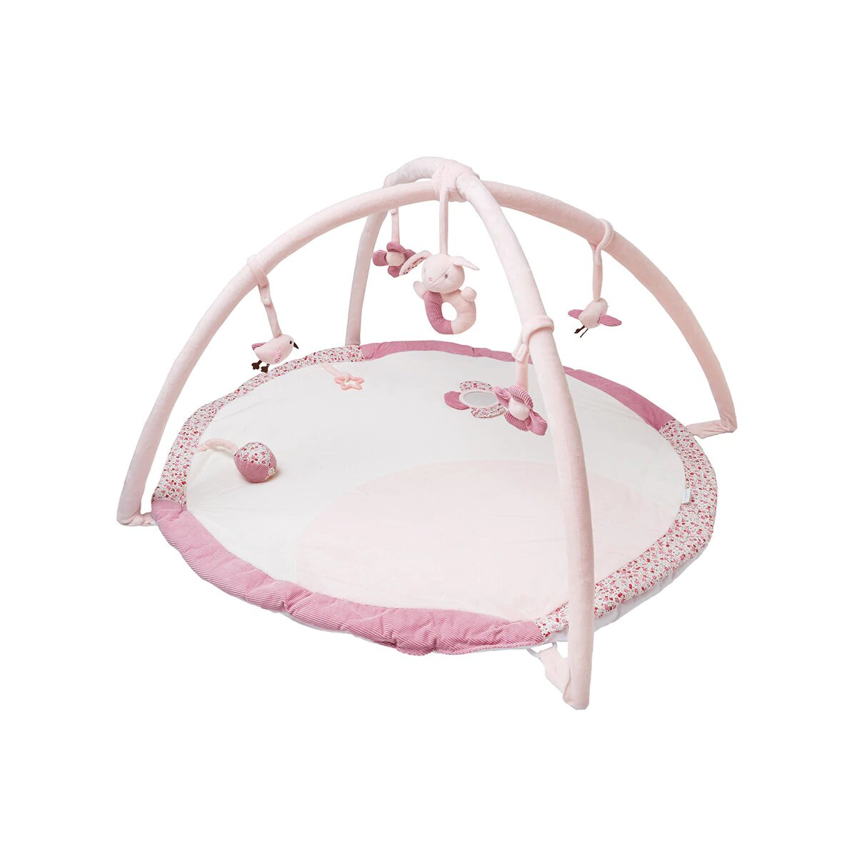 Gimnasio para bebés Cotton Juice Baby Home con Arco de juegos rosa