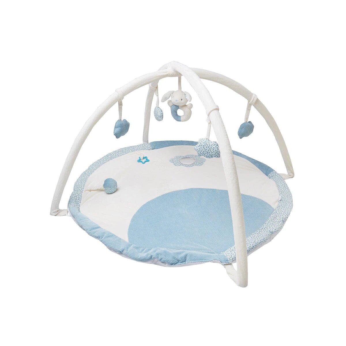Gimnasio para bebés Cotton Juice Baby Home con Arco de juegos azul