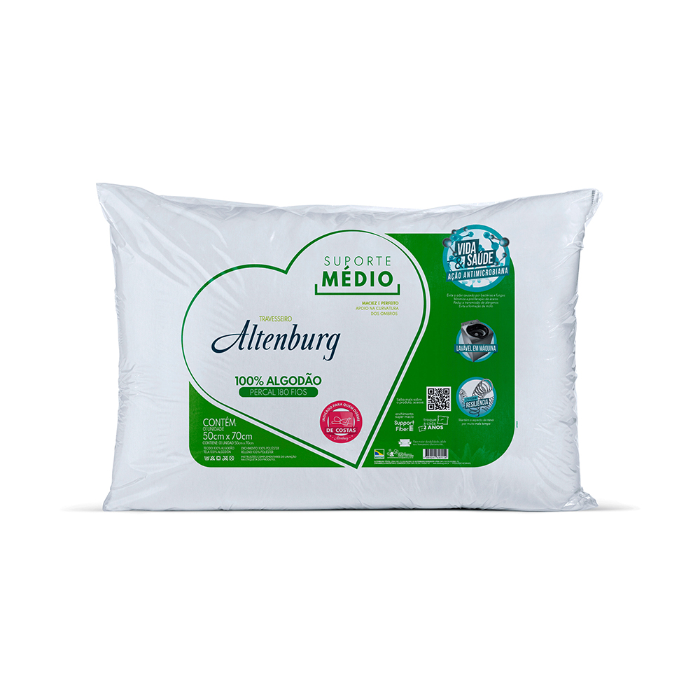 Almohada Soporte Medio 0 50X0 70 Blanco