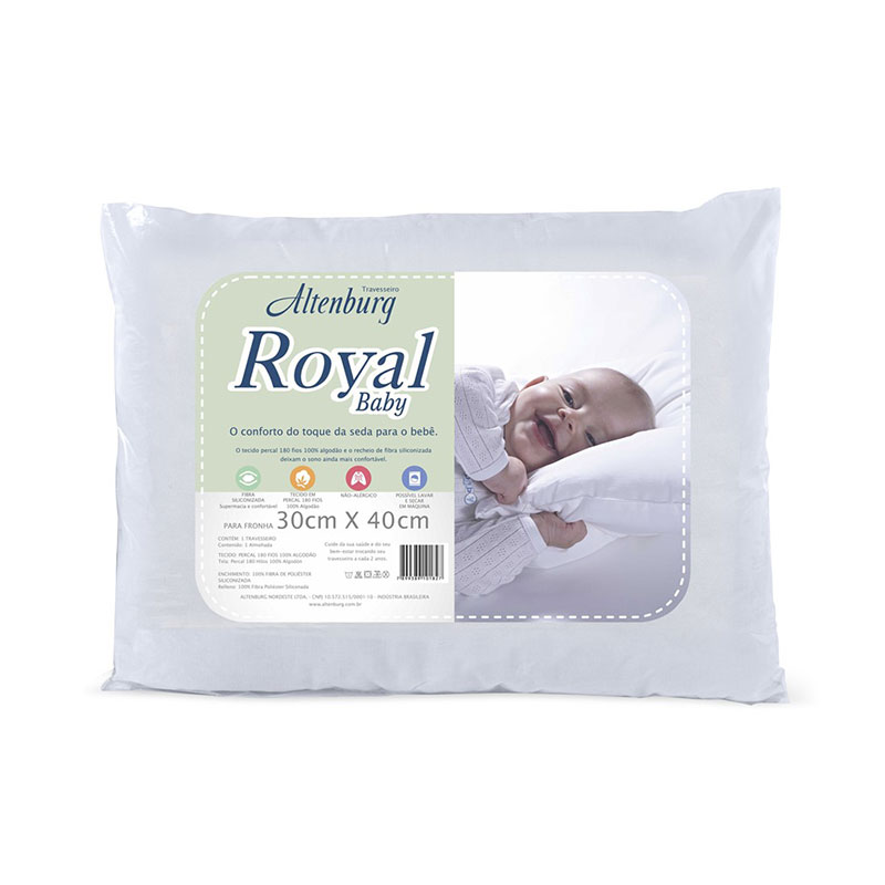 Almohada Royal Baby 0 30X0 40 Blanco