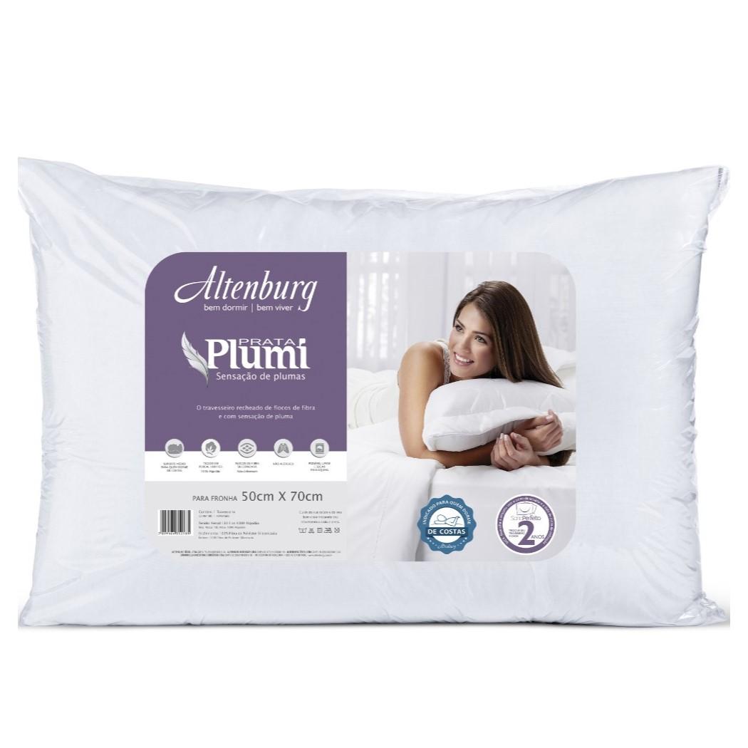 Almohada Plumi Plata 0 50X0 70 Blanco