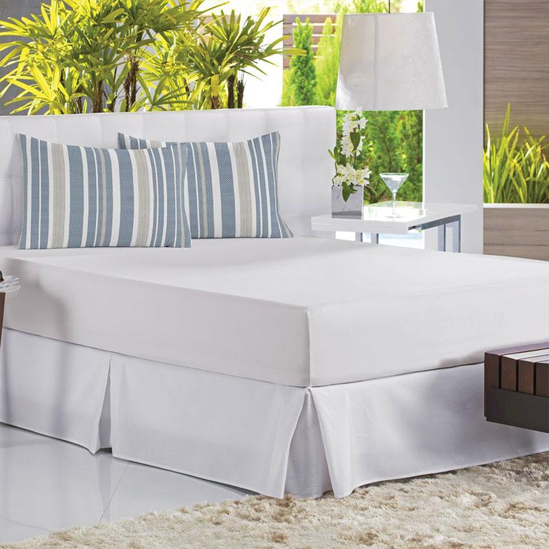 Sabana Ajustable Malha In Cotton 158X198X30 Blanco