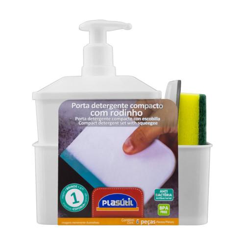 Juego Porta Detergente Rectangular 600ml (Blanco)
