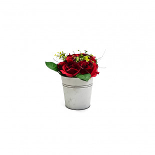 ARREGLO FLORAL ROSA ROJA REAL TOUCH