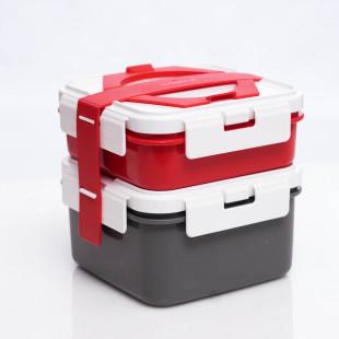 LONCHERA 2 EN 1 SET RED (700ML/DIVIDER+1.1L +HANDEL)