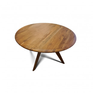 Mesa de Comedor  redonda en madera 132CMX132CMX75CM